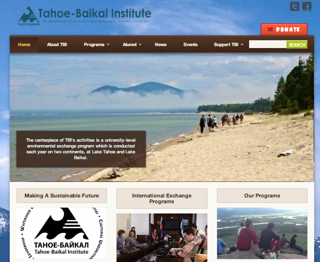 Tahoe-Baikal Institute | NPO Website