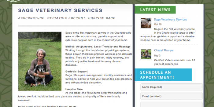 Sage Veterinary Service [WEBSITE DESIGN]
