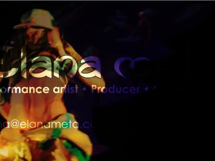 Performance Artist Elana Meta @ Envision Festival 2014 | 2 vids