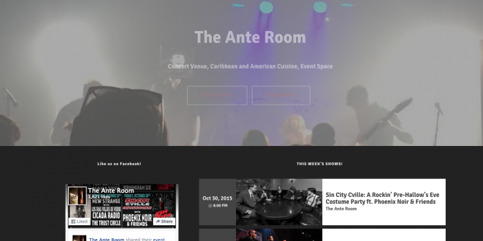 The Ante Room [WEBSITE DESIGN]