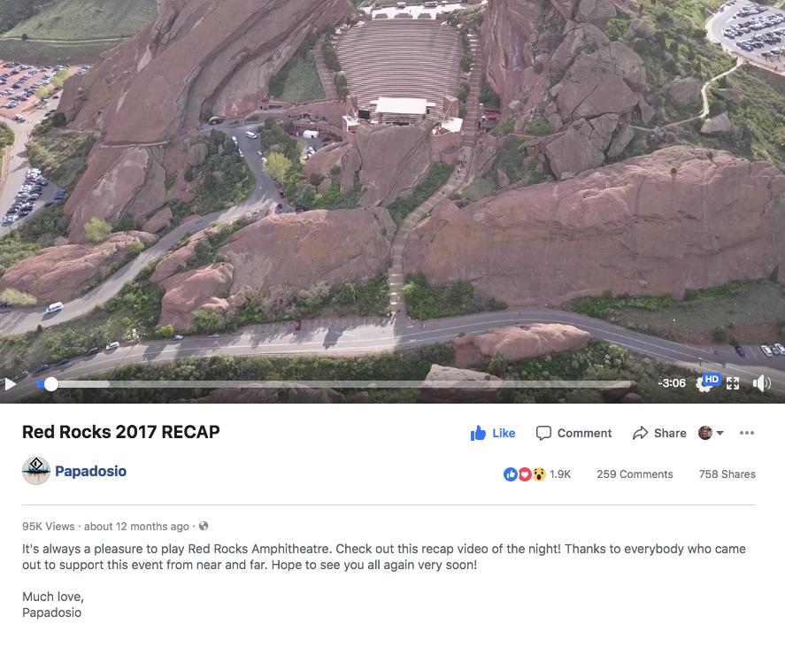 Papadosio Red Rocks Official Recap Video 2017