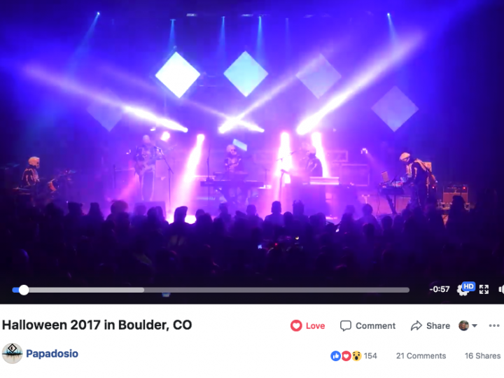 Papadosio Halloween Show at Boulder Theater 2017